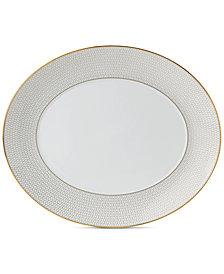 "Wedgwood Arris Oval Serving Platter 13"""
