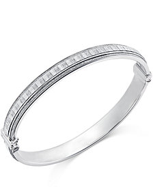 Glitter Bangle Bracelet in Sterling Silver