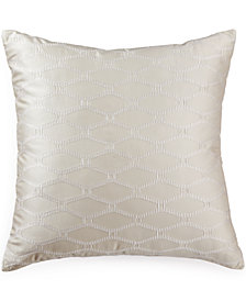 "Hotel Collection Woven Texture 20"" Square Decorative Pillow"