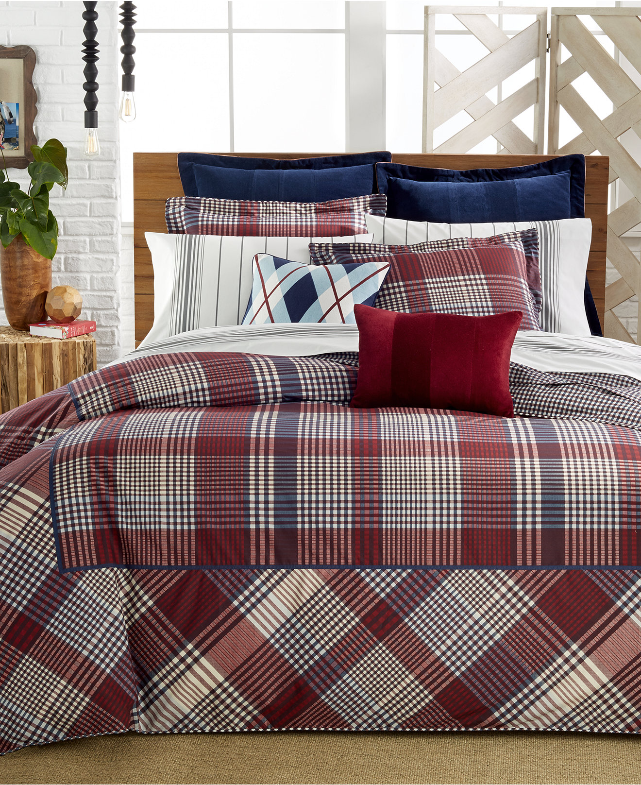 Red and brown plaid bedding - Tommy Hilfiger Buckaroo Plaid Bedding Collection Bedding Collections Bed Bath Macy S