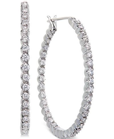 Diamond Hoop Earrings in 14k White Gold (1-1/4 ct. t.w.)