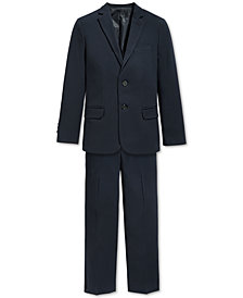 Calvin Klein Bi-Stretch Suit Jacket & Dress Pants, Big Boys Husky