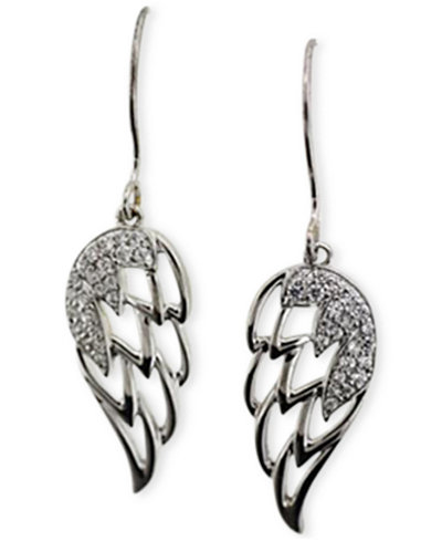 Diamond Angel Wing Earrings (1/5 ct. t.w.) in 10k White