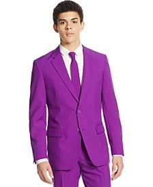 OppoSuits Men's Purple Prince Solid Suit