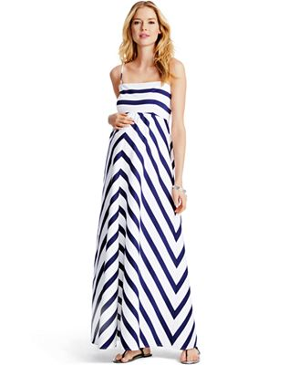 Jessica Simpson Maternity Striped Maxi Dress - Maternity - Women ...