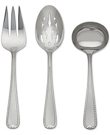 Gorham Ribbon Edge Frost 3-Piece Hostess Set