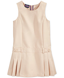 Nautica School Uniform Pleated Jumper, Little Girls
