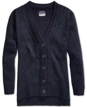 Nautica School Uniform CableKnit Boyfriend Cardigan Big Girls (716)