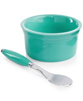 2-Piece Turquoise Dip Bowl and Spreader Set