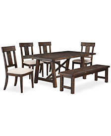 CLOSEOUT! Ember 6-Piece Dining Room Furniture Set, Created for Macy's,