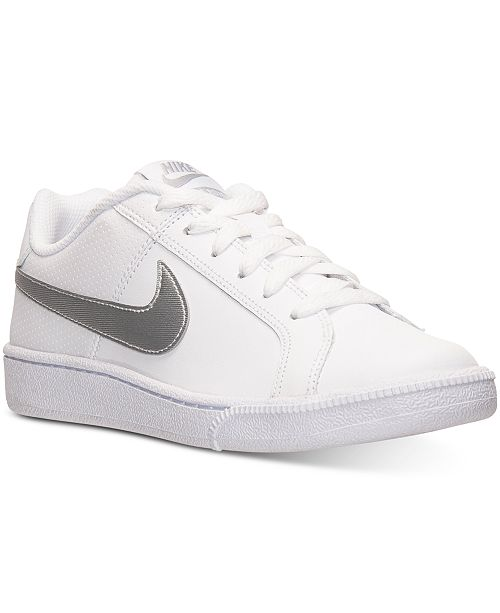 huge selection of 55788 eb44c ... Nike Womens Court Royale Casual Sneakers from Finish ...