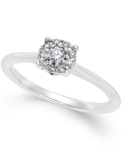 Diamond Promise Ring (1/5 ct. t.w.) in 10k White or Yellow Gold