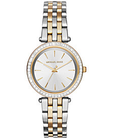 Michael Kors Women's Mini Darci Two-Tone Stainless Steel Bracelet Watch 33mm MK3405