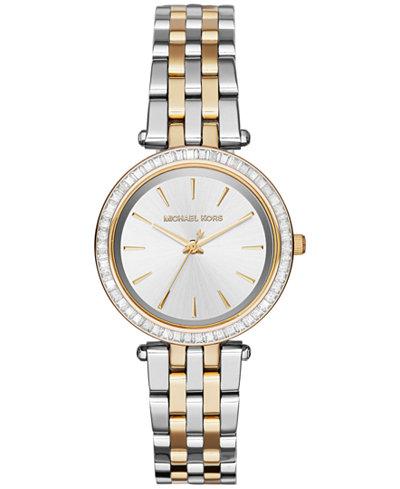 Michael Kors Women's Mini Darci Two-Tone Stainless Steel Bracelet Watch 33mm MK3405