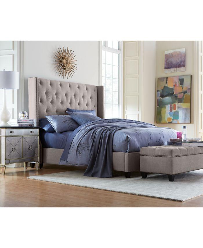 Furniture Rosalind Upholstered Full Bed & Reviews - Furniture - Macy's