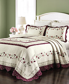 Martha Stewart Collection Cotton Prairie House Queen Bedspread, Created for Macy's