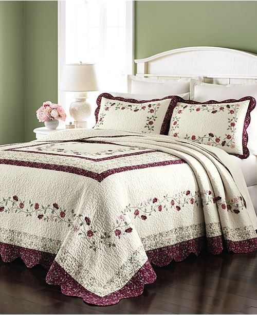 Martha Stewart Collection Prairie House Bedspread and Sham ...