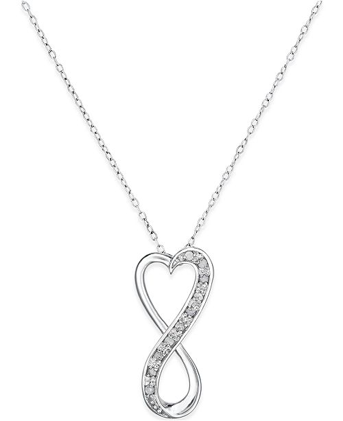 36f6b09e7caf89 ... ct; Macy's Diamond Infinity Heart 18