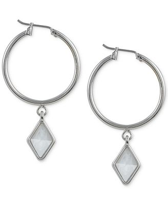 French Connection Silver-Tone Click-It Kite Drop Earrings