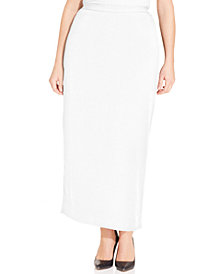Kasper Plus Size Column Skirt