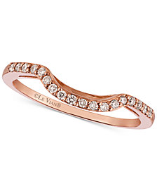 Le Vian® Diamond Curved Ring in 14K Rose Gold (1/6 ct. t.w.)