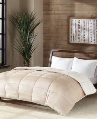 king size sherpa comforter Premier Comfort Reversible Micro Velvet and Sherpa Down  king size sherpa comforter