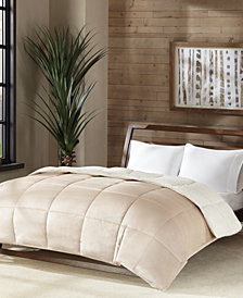 Premier Comfort Reversible Micro Velvet and Sherpa Down Alternative Comforters, Hypoallergenic