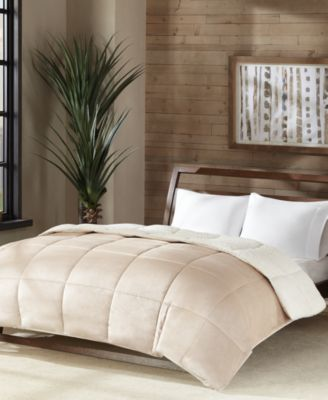 premier comfort reversible micro velvet and sherpa down alternative comforters