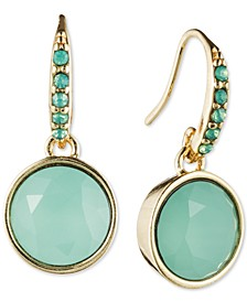 Gold-Tone Stone Earrings