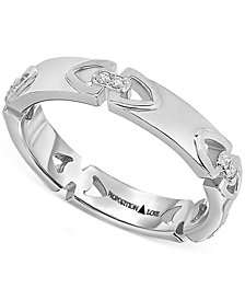 Proposition Love Diamond Triangle Motif Women's Wedding Band in 14k White Gold (1/10 ct. t.w.)