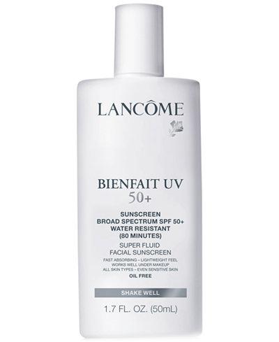 Lancôme Bienfait UV SPF 50+ Super Fluid Facial Sunscreen, 1.7 oz