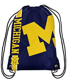 Forever Collectibles Michigan Wolverines Big Logo Drawstring Bag