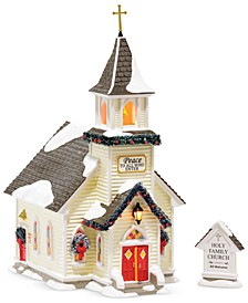 Snow Village Holy Family Church