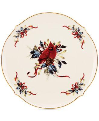 Holiday Dinnerware, Winter Greetings® Round Platter