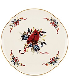 CLOSEOUT! Winter Greetings Round Serving Platter