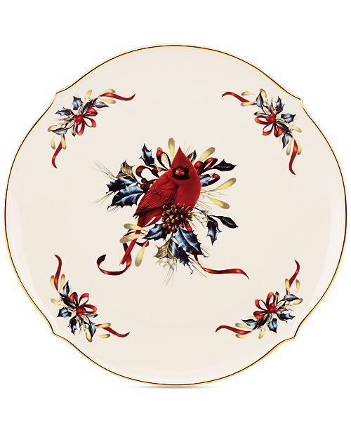 Lenox holiday dinnerware winter greetings round platter main image m4hsunfo