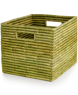 Rwanda Serengeti Raffia and Sweet Grass Square Basket