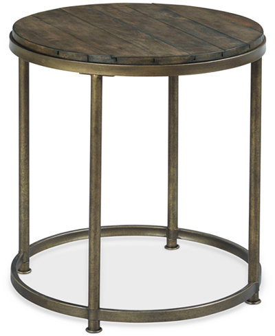 Link Wood Round End Table. Link Wood Round End Table   Furniture   Macy s
