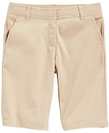School Uniform Bermuda Shorts, Big Girls Plus