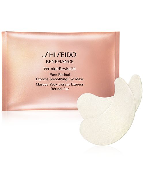 Shiseido Benefiance WrinkleResist24 Pure Retinol Express Smoothing Eye Mask - 12 Pk.