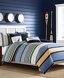 CLOSEOUT! Nautica Dover Full/Queen Duvet Set