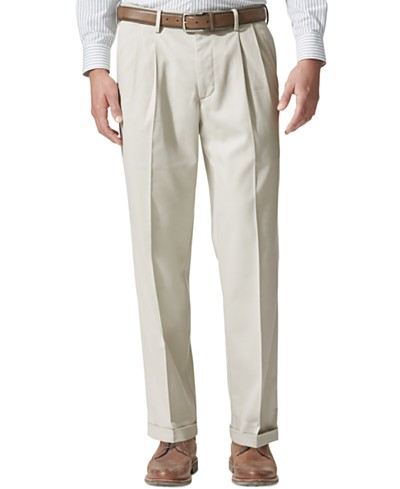 Dockers® Men's Stretch Relaxed Fit Comfort Khaki Pants Pleated - Cuffed D4