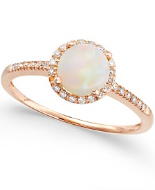 Opal (3/4 ct. t.w.) and Diamond (1/