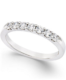 Certified Diamond Seven-Stone Channel Set Band in Platinum (1/2 ct. t.w.)