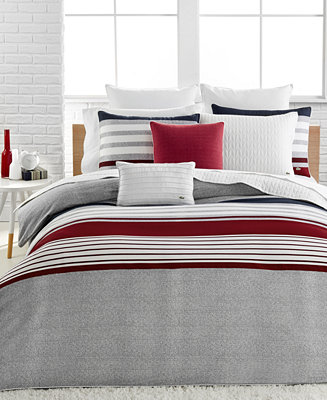 Lacoste Home Auckland Red Comforter Sets Bedding