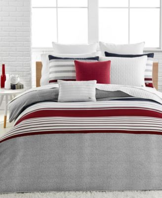 Lacoste Home Auckland Red Duvet Cover Sets Awesome Design