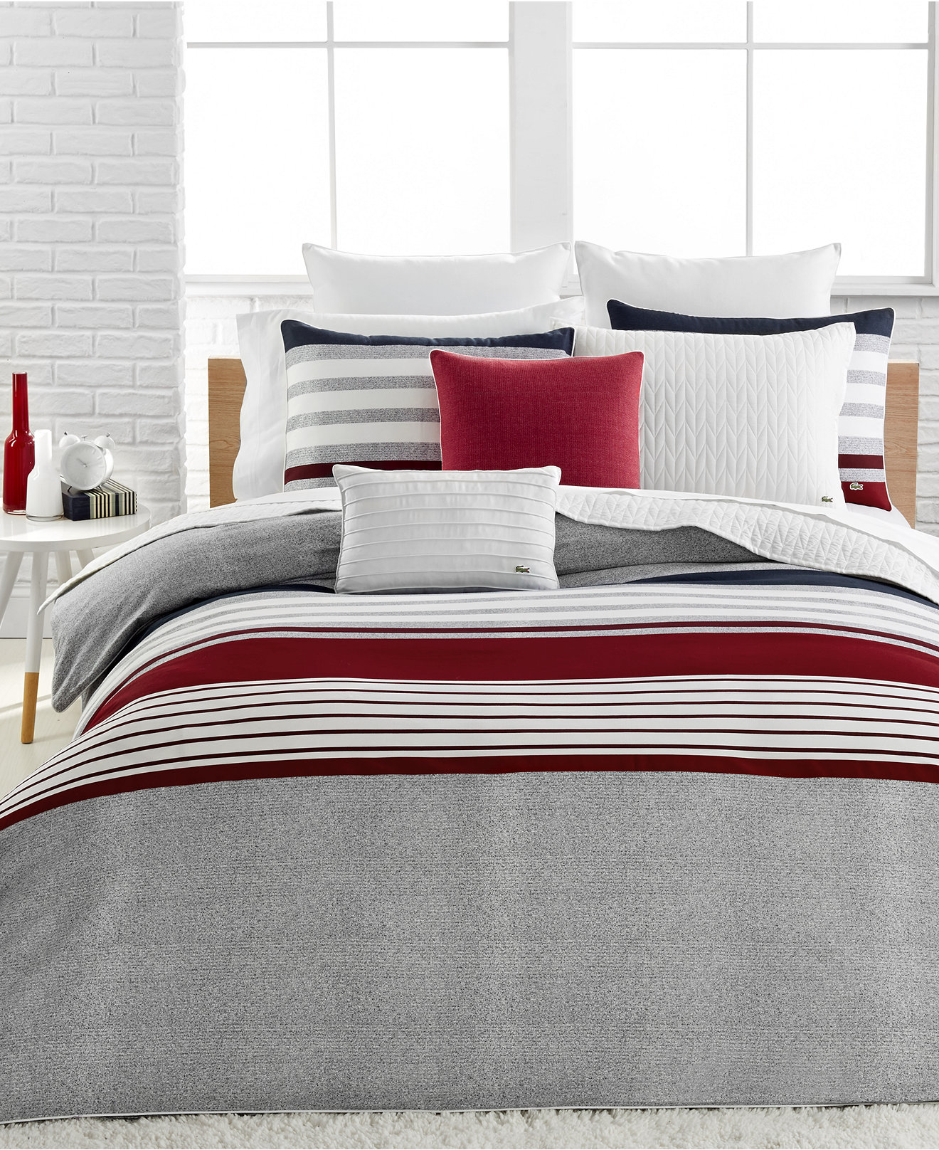 red bed linen duvet covers  sweetgalas - lacoste home auckland red duvet cover sets bedding collections