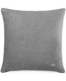 """Lacoste Home Velvet Brushed Twill 18"""" Square Decorative Pillow"""