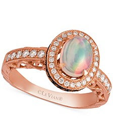Opal (2/3 ct. t.w.) and Diamond (5/8 ct. t.w.) Ring in 14k Rose Gold, Created for Macy's