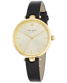 kate spade new york Women's Holland Black Leather Strap Watch 34mm 1YRU0811